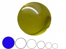 Jac Products Yellow Translucent 100mm Acrylic Contact Ball